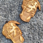 Tupac Engraved Earrings
