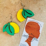 Lemon Wooden Earrings
