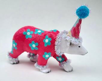 """Polar Bear, Decorative Animal Figurine, Garden Party Animal, """"Serena"""""""
