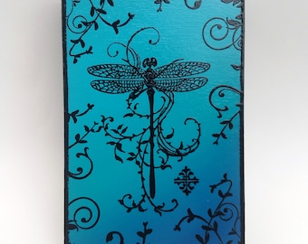 Dragonfly Plaque Wall Art - Turquoise