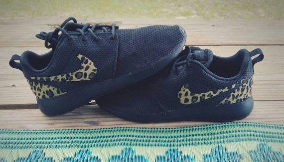 Noir run roshe Etsy Chaussures Custom nike leopard cheetah c8UpwnYEq