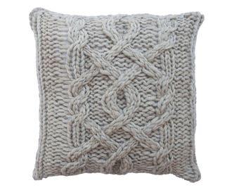 "Wool Cushion ""Scandi- Scandinavian style  - Pillow - Scandinavian style - Knit"