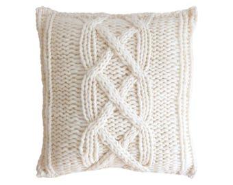 """Wool Cushion """"SODER Light - Scandinavian style  - Pillow - Scandinavian style - Knit"""