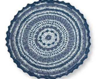 Rug / Carpet - Recycled cotton, Hookeed, Ribbon - Traphilo - Taphilo