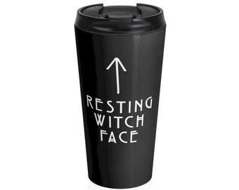d4127576c4 Resting Witch Face Tumbler