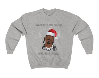 snoop unisex heavy blend crewneck sweatshirt snoop dogg ugly sweater funny christmas sweater night before christmas snoop dog