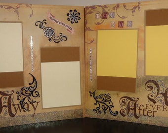 Queen King Enchanted Couple story scrapbook 8 pages 12X12 baby boy or girl history happy beginnings love mom dad