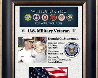Personalized Military Veteran Plaque