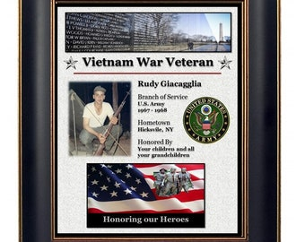 Personalized Vietnam Veteran Plaque