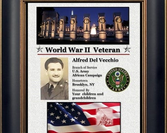 Personalized WWII Veteran Plaque