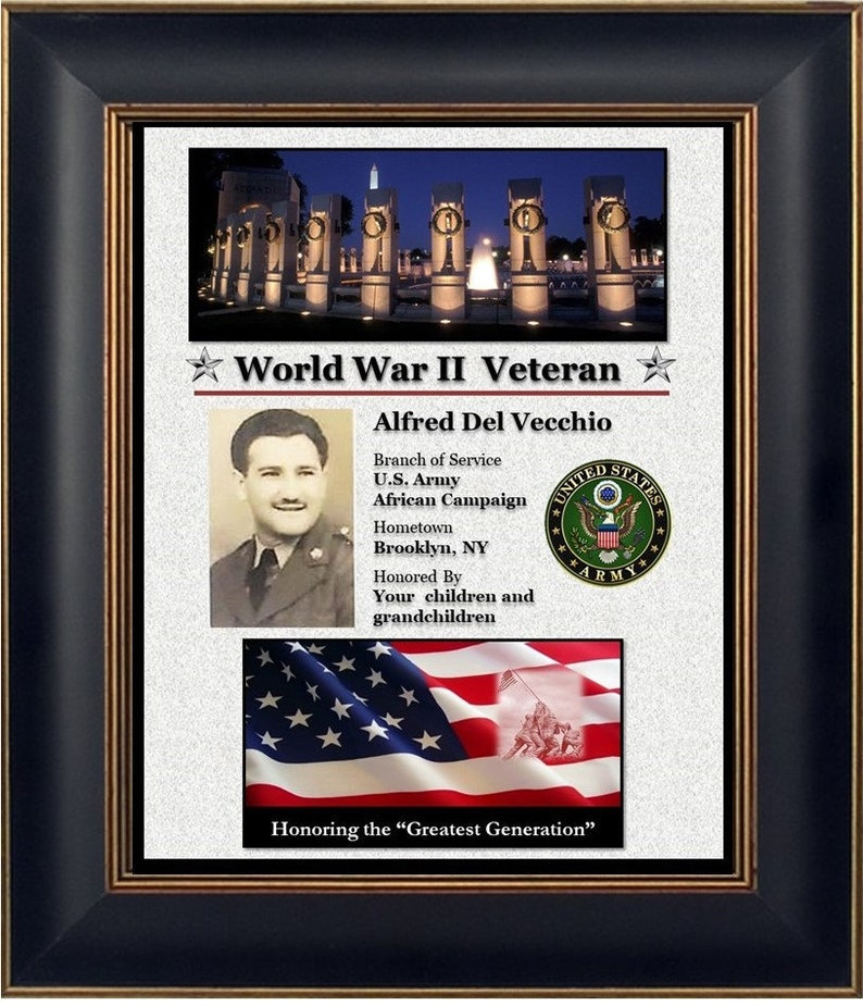 Personalized WWII Veteran Plaque image 0