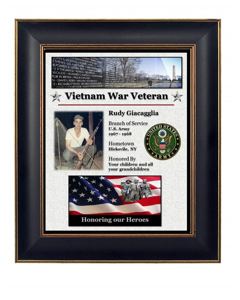 Personalized Vietnam Veteran Plaque image 0