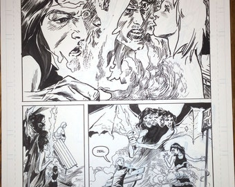 Alabaster:Wolves  issue #1, page 10. Half-splash!