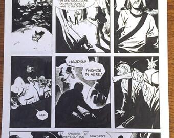 Underground issue 2, page 20, original art. Free USA shipping.