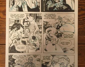 Steve Lieber original art from Underground #2, page 6