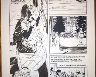 Alabaster: Boxcar Tales #4 page 1 Half splash page, original art.
