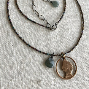 Antique Steel Seed Bead Necklace