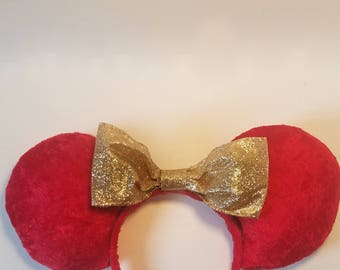 Velvety Holiday Themed Mouse Ears