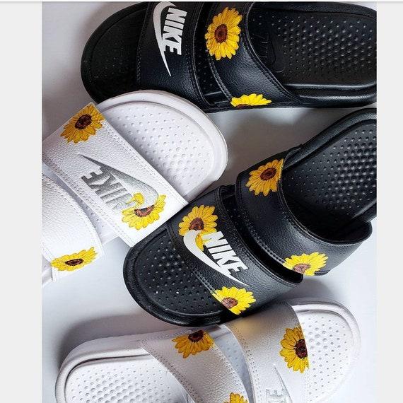 Custom Handpainted Sunflower Nike