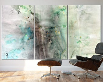 SPRING SERIES   #8003, Extra Large Abstract Painting, Artist-Signed, Giclee Fine Art Print, Contemporary Art, Nature, 48x90- 60x108