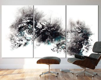 WINTER SERIES   #8006, Extra Large Abstract Winter Painting, Artist-Signed, Giclee Fine Art Print, Contemporary Art, Snow, 48x90- 60x108