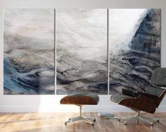 WAVE SERIES   #8004, Extra Large Contemporary Wave Painting, Artist-Signed, Giclee Fine Art Print, Nature, Abstract Art, 48x90- 60x108