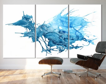 ICE SERIES   #8002, Extra Large Abstract Ice Painting, Artist-Signed, Giclee Fine Art Print, Contemporary Art, Wall Art, 48x90- 60x108