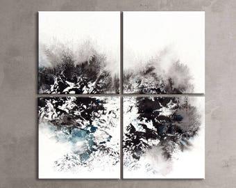 WINTER SERIES   #6007, Extra Large Contemporary Winter Art, Artist-Signed, Giclee Fine Art Print, Wall Art, Abstract Art, 60x60- 72x72