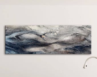 WAVE SERIES   #5008, Contemporary Ocean Painting, Artist-Signed, Giclee Fine Art Print, Abstract Art, Wave, Nature, 8x24 - 30x90