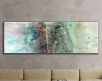SPRING SERIES   #5004, Large Abstract Painting, Artist-Signed, Giclee Fine Art Print, Contemporary Art, Wall Art Print, 8x24 - 30x90