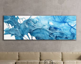 ICE SERIES   #5001, Contemporary Ice Painting, Artist-Signed, Abstract Art, Giclee Fine Art Print, Nature, Acrylic, Wall Art, 8x24 - 30x90