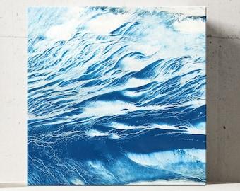 WAVE SERIES #1020, Artist-Signed, Abstract Giclee Wall Art Print, Home Decor, Contemporary Art, Ocean Art, Coastal Print, Blue Water Decor