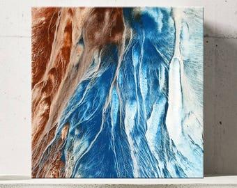 WAVE SERIES #1022, Artist-Signed, Abstract Giclee Wall Art Print, Home Decor, Contemporary Art, Ocean Art, Coastal Print, Blue Water Decor