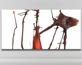 ROOT SERIES   #4002, Contemporary Art Painting, Artist-Signed, Giclee Fine Art Print, Abstract, Acrylic, Minimalistic, 12x24 - 36x72