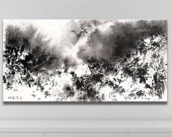 WINTER SERIES   #4004, Abstract Winter Art, Artist-Signed, Giclee Fine Art Print, Contemporary Art Painting, Acrylic, Snow, 12x24 - 36x72