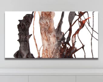 ROOT SERIES   #4003, Giclee Fine Art Print, Artist-Signed, Contemporary Art Painting, Abstract Art, Acrylic, Nature, 12x24 - 36x72