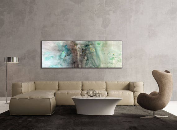 Large Abstract Painting, Artist-Signed, Giclee Fine Art Print, Contemporary Art, Acrylic, Wall Art Print, Home Decor, Nature, 8x24 - 30x90