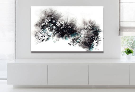 Abstract Snow Painting, Artist-Signed, Giclee Fine Art Print, Contemporary Art, Acrylic, Wall Art, Home Decor, Winter, 10x16 - 36x60