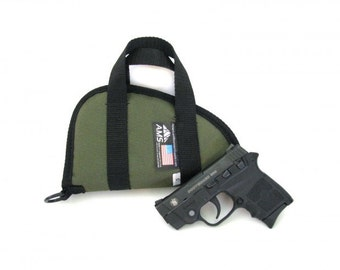 Soft Nylon Pistol Case with Handles- Multiple colors and sizes