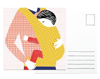 Illustration postcard - Little one