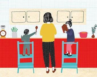 Illustration print - Kitchen