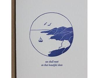 Shore Sympathy - Letterpress Sympathy Card