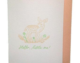 Little Fawn - Letterpress Baby Shower Card