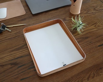 "Natural Vegetable Tanned Leather Valet Tray ""XL"""