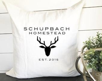 Custom Homestead Pillow, Deer Pillow, Hunting Pillow, Country Pillow, Country Decor, Decorative Pillow, Throw Pillow, Lodge Pillow