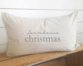 Farmhouse Christmas Pillow Cover 16 x 26 // Christmas / Holiday / Christmas Pillow / Accent Pillow / Throw Pillow / Gift