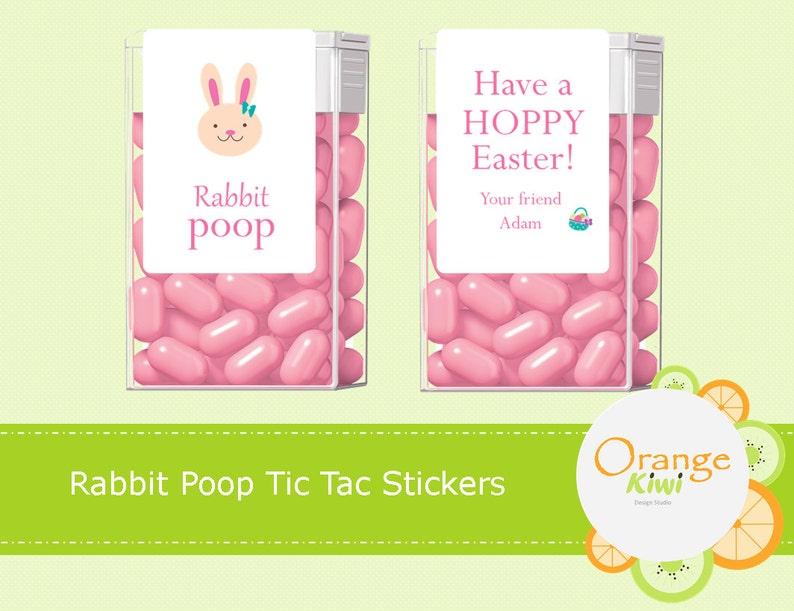 Ostern Tic Tac Aufkleber Mitbringsel Tic Tac Etiketten Bunny Leckereien Ostern Gefälligkeiten Kaninchen Poop Tic Tac Etiketten Ostern