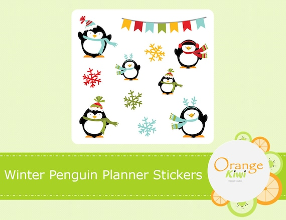 Penguin Count Down to Christmas planner stickers scrap booking