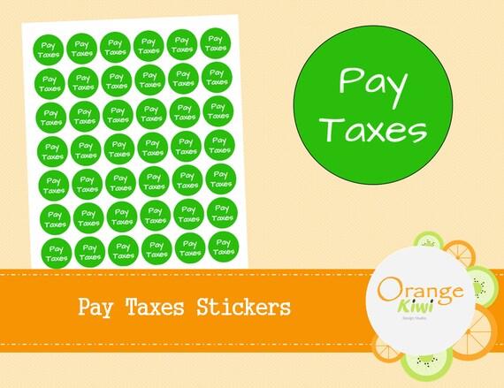 Zahlen Sie Steuern Kreis Sticker Steuer Zahlung Mahnung Etsy