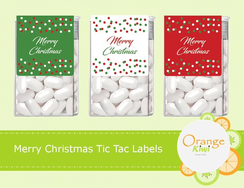 Merry Christmas Tic Tac Labels Christmas Tic Tac Stickers Merry Christmas Party Favors